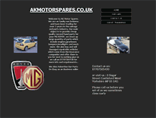 Tablet Preview of akmotorspares.co.uk